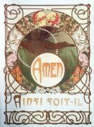 Vintage art decor poster - Amen